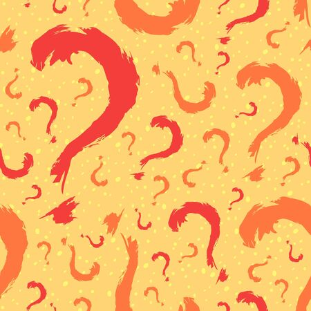 Question mark seamless pattern background Vector