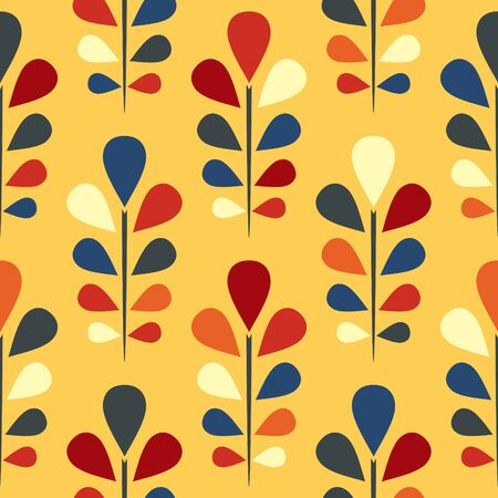 Abstract seamless floral pattern  vector illustration illustration
