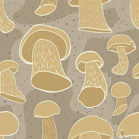cep: Seamless pattern with cep mushroom