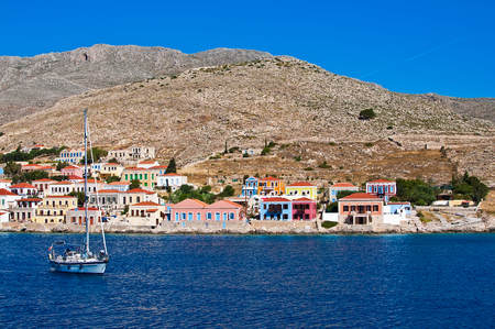 dodecanese: Colorfull houses on Symi island, Dodecanese, Greece, Europe