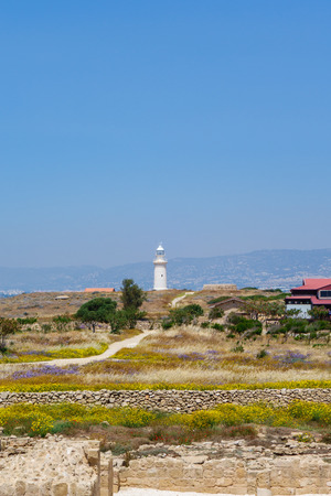 archeological: Lighthouse in Archeological park in Paphos
