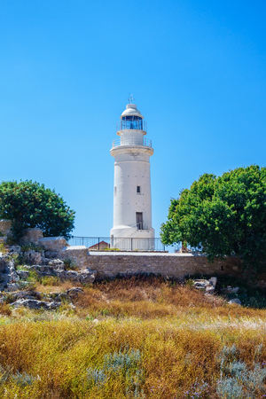 Lighthouse in Archaeological park at Kato Paphos, Cyprus