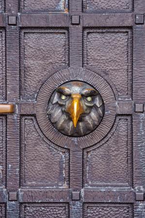 Door decoration on the Shipka monument. Bulgaria