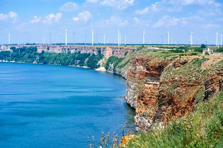 Rocky coast on Cape Kaliakra, Black Sea, Bulgaria