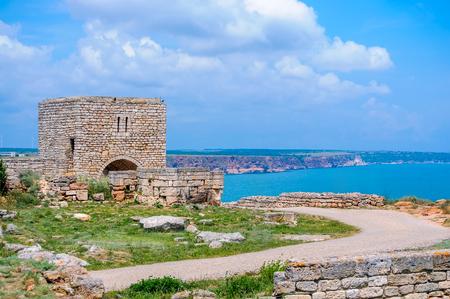 Medieval Fortress On Cape Kaliakra, Black Sea, Bulgaria Stock Photo