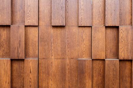 Brown wood plank wall panel Stock Photo