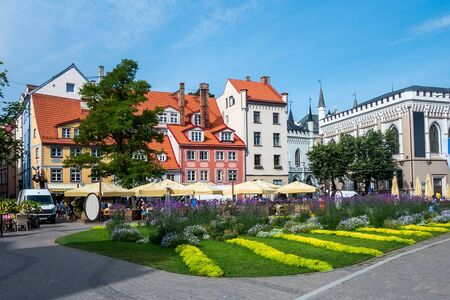 Livu square, Old town of Riga, Latvia
