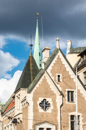 Old Riga roofs and towers