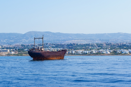 An old shipwreck near Cyprus, Paphos Stock Photo
