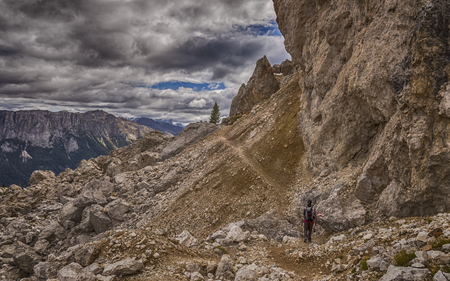hiking in the Dolomites, mountains in south tyrol