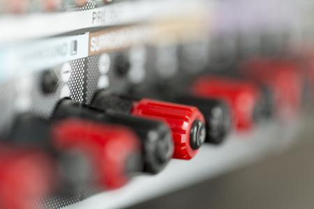 amplifier connectors - detail of sockets