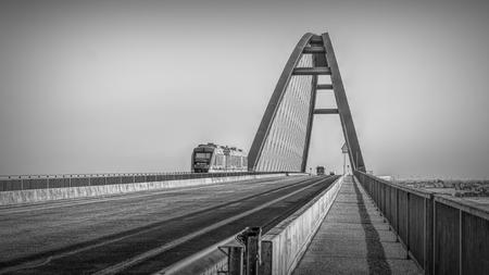 Fehmarnsund Bridge - Travel in Germany - 版權商用圖片