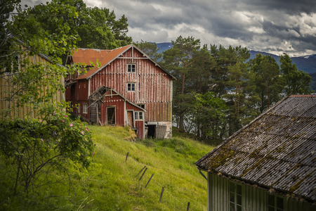 lost place in a norway forest Stock Photo