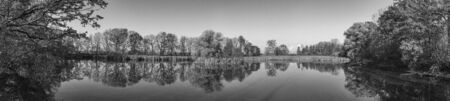 big natural panorama in black and white Stockfoto - 137877113