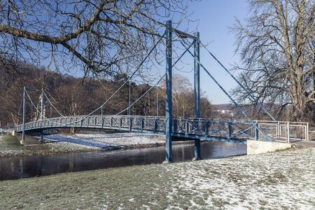 footbridge over the white elster in Gera, thuringia - germany