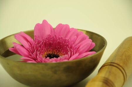 singing bowls: singing bowl with pink flower