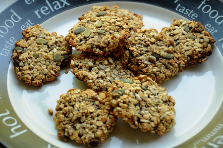 pumpkinseed: Oatmeal cookies on a plate