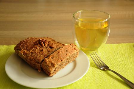 homemade cake: homemade cake with a separate slice