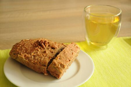 homemade cake: homemade cake and a cup of tea
