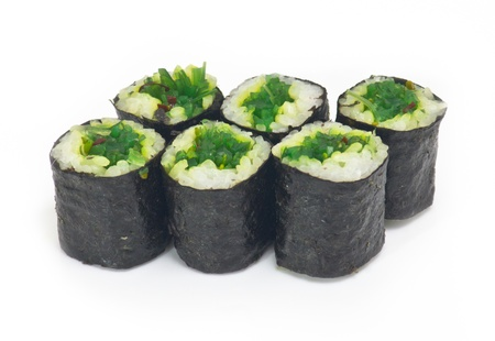 Various kinds of sushi and sashimi photo