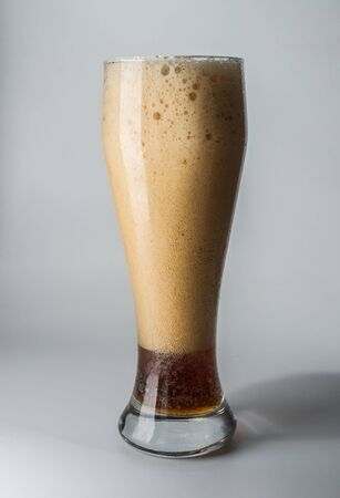 ale: Mug, full of cold ale beer  Isolated