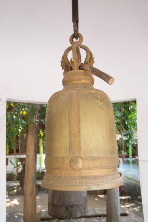 bell bronze bell: Bronze bell at Thai temple