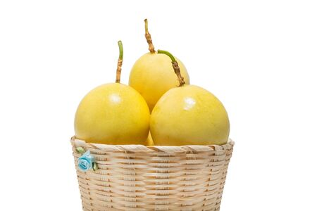 Thai passion fruit in basket