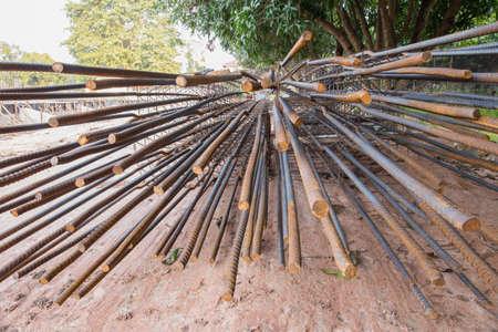 bar tool: Steel reinforcement bar for construction.