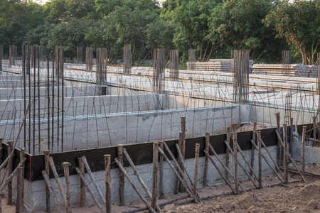 bar tool: Steel reinforcement bar for construction in building site Stock Photo