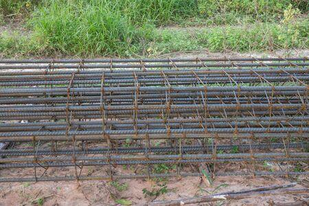 reinforcement: Steel reinforcement bar for construction.