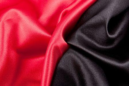 softness: Softness Textile Red Black Satin Wave Pattern Background ( Wave Pattern ) Stock Photo