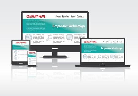 スケーラブルで柔軟な Web デザイン コンセプト