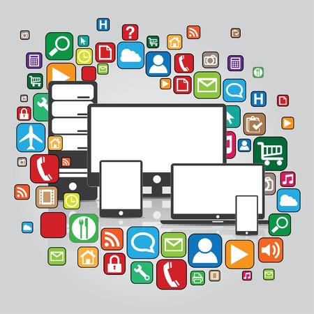 Applications of Media Technologies  Lots of apps icons