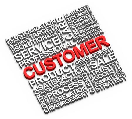 顧客とホワイトに関連する単語 写真素材