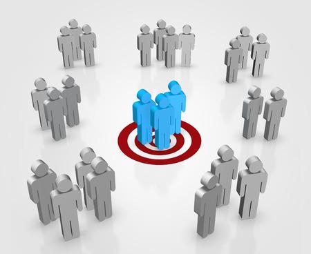 Richt uw klanten begrip digitaal Gemaakt