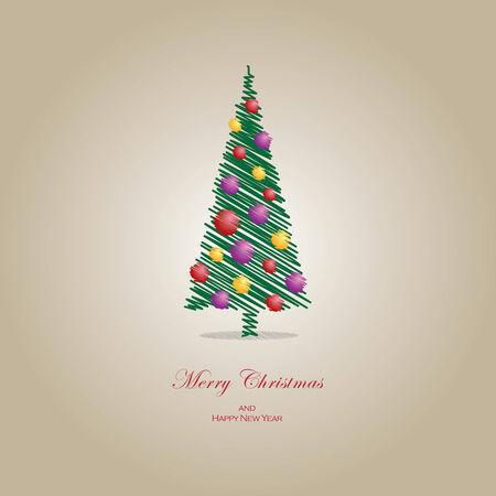 ベクトル イラスト クリスマス ツリーの概念。ファイルの拡張子は EPS10 形式です。  イラスト・ベクター素材