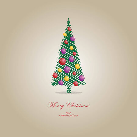 Vector illustration Christmas tree concept. File extension is EPS10 format.
