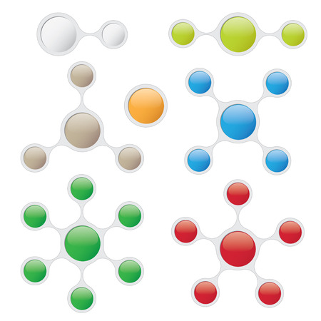 Info Graphic design template in Bubble Style. Eps10 file 矢量图像