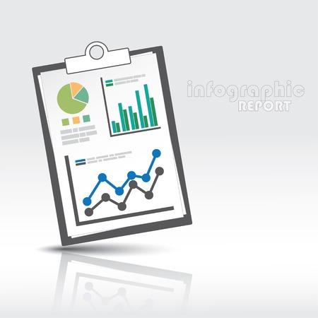 情報グラフィック レポート テンプレート。Eps10 ファイル。
