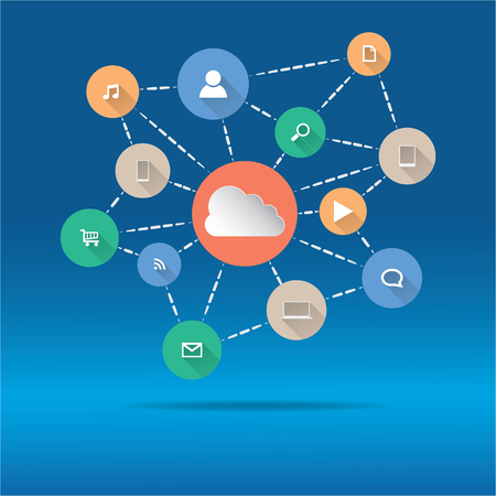 Cloud Computing and Applications concept. Vector illustration in EPS10. Included high resolution jpg file. 矢量图像