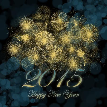 sylwester: Szczęśliwego nowego roku 2015 obraz tła. Zdjęcie Seryjne