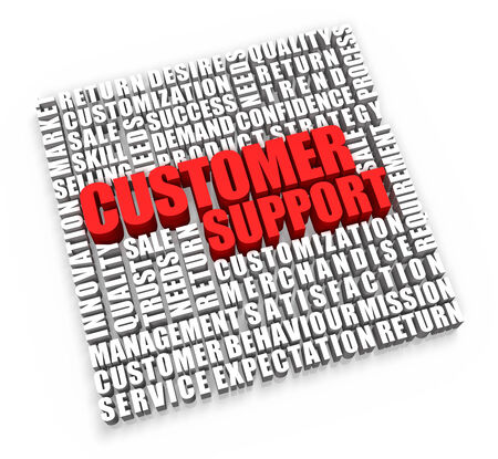 Customer Support and related words on white background. 스톡 콘텐츠
