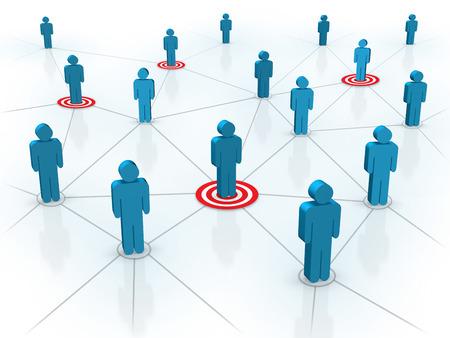figura humana: Dirigirse a su concepto de los clientes. Creado digitalmente.