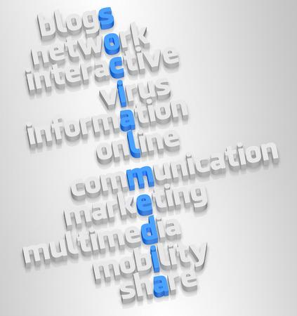 社会的なメディアと白 backgorund に関連する単語。