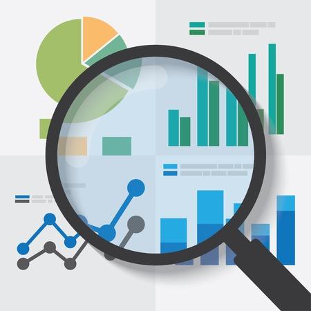 Koncepcja analizy danych. EPS10 plik i zawiera wysokiej rozdzielczości jpg Ilustracje wektorowe