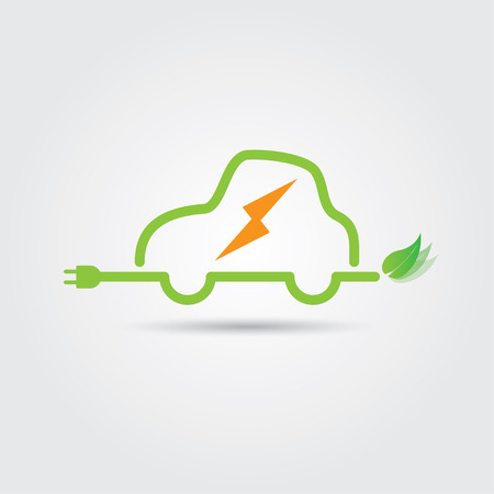 Electricity Car. Vector illustration in EPS10. Included high resolution jpg file.