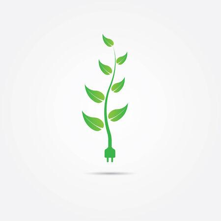 グリーン エネルギーの概念  イラスト・ベクター素材