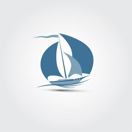 Sailboat illustrator. Vector illustration in EPS10. Included high resolution jpg file.