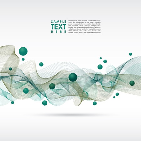 Abstract waved vector template background. EPS 10.