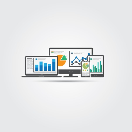Website analytics and SEO data analysis concept. EPS10 file and included high resolution jpg 일러스트